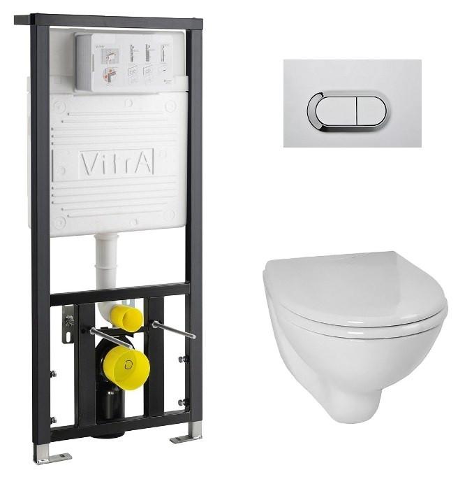 Комплект Vitra Normus 9773B003-7202 комплект vitra normus унитаз с сиденьем инсталляция кнопка белая 9773b003 7201