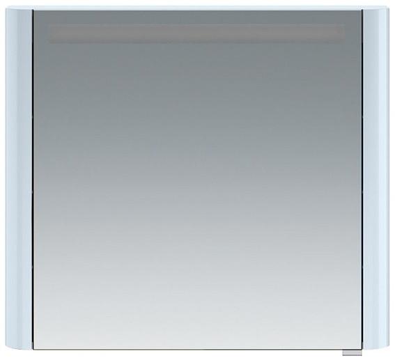 Фото - Зеркальный шкаф 80х70 см светло-голубой глянец L Am.Pm Sensation M30MCL0801BG зеркальный шкаф 80х70 см белый глянец l am pm sensation m30mcl0801wg