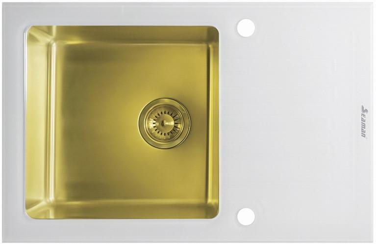 Кухонная мойка Seaman Eco Glass SMG-780W-Gold.B