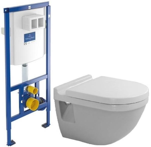 Комплект подвесной унитаз Duravit Starck 3 2200090000 + 0063810000 + система инсталляции Villeroy & Boch 92246100 фото