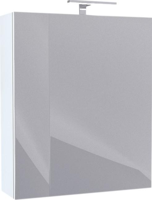 Зеркальный шкаф 50х60 см белый глянец R IDDIS