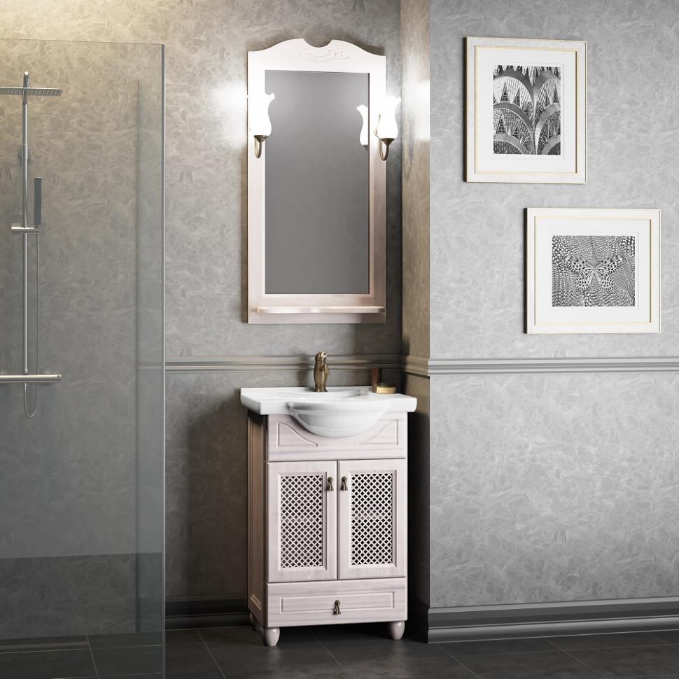Комплект мебели белый 56 см Opadiris Тибет TIBET50KOMWRES