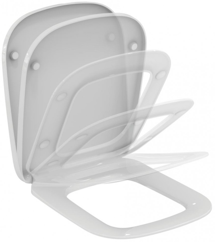 Сиденье для унитаза с микролифтом Ideal Standard Esedra T318101 фото