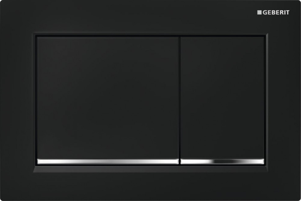 Смывная клавиша Geberit Omega30 черный/глянцевый хром/черный для двойного смыва 115.080.KM.1 цена и фото