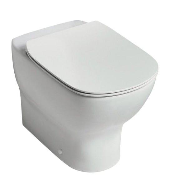Унитаз приставной Ideal Standard Tesi AquaBlade T007701 унитаз с бачком ideal standard tesi aquablade пристенный с сиденьем микролифт