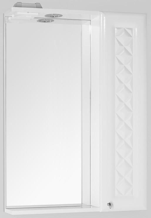 Зеркальный шкаф 60х86 см белый глянец Style Line Канна LC-00000294