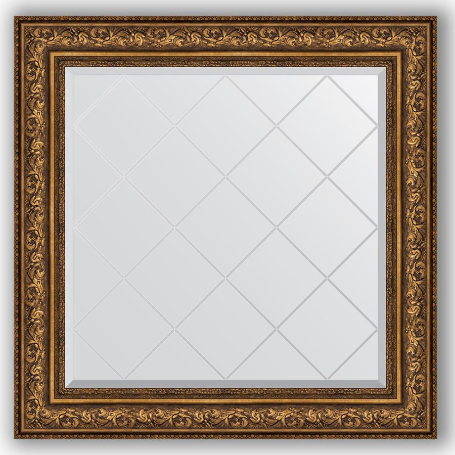 Зеркало 90х90 см виньетка состаренная бронза Evoform Exclusive-G BY 4341