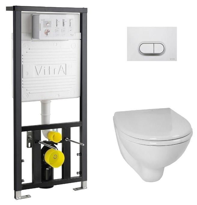 Комплект Vitra Normus 9773B003-7203 комплект vitra normus унитаз с сиденьем инсталляция кнопка белая 9773b003 7201