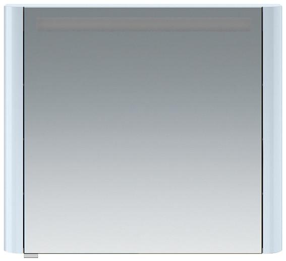 Зеркальный шкаф 80х70 см светло-голубой глянец R Am.Pm Sensation M30MCR0801BG фото