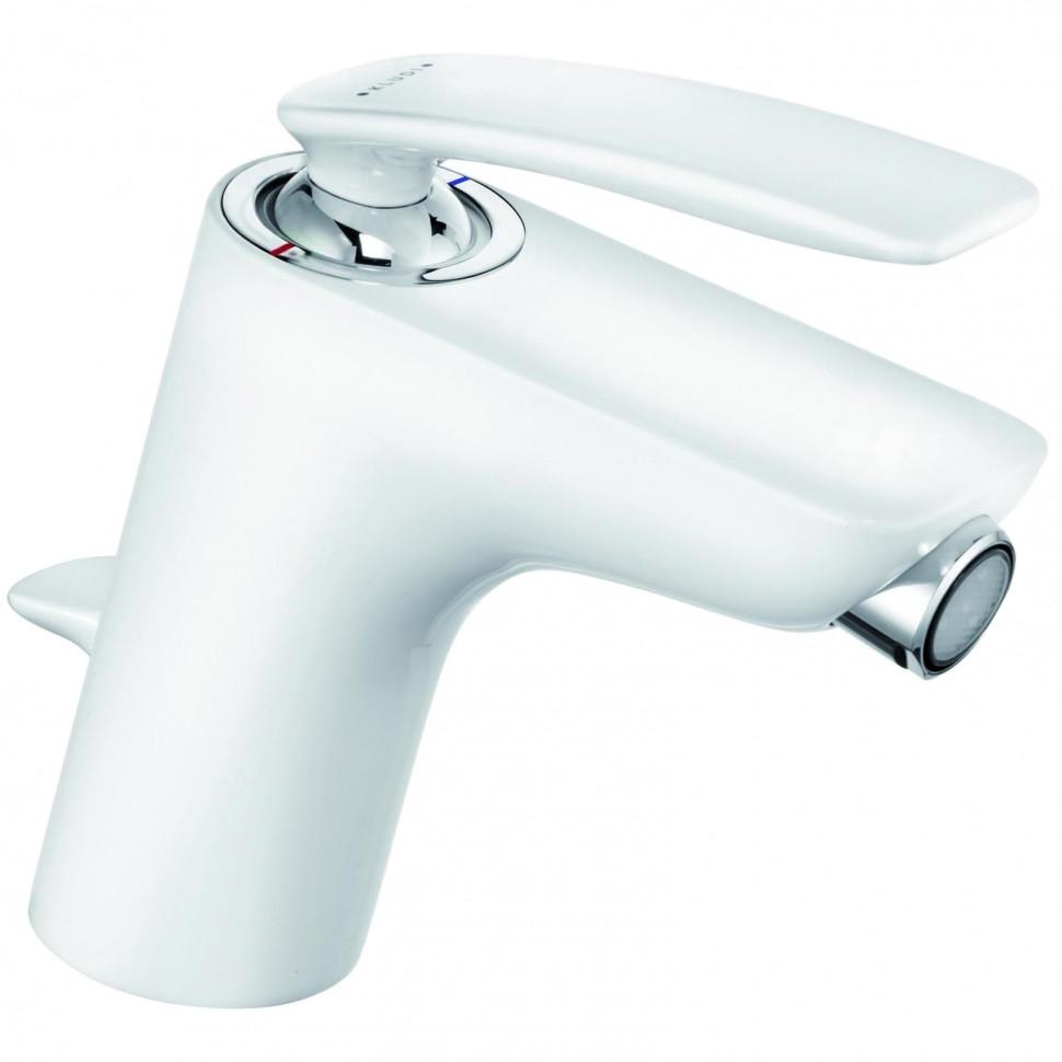 Смеситель для биде с донным клапаном Kludi Balance White 522169175 смеситель для биде kludi kludi balance 522169175