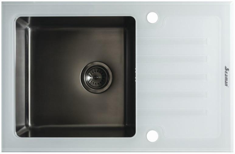 Кухонная мойка Seaman Eco Glass SMG-780W-Gun.B