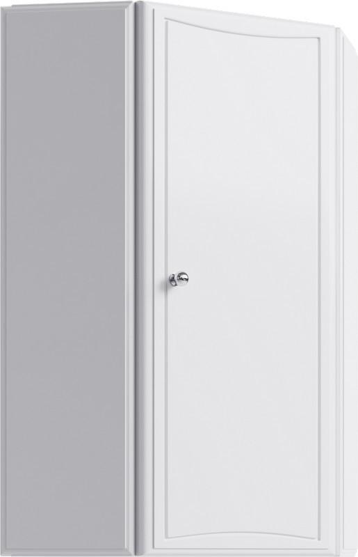 Шкафчик угловой навесной белый глянец Aqwella Барселона Ba.04.36