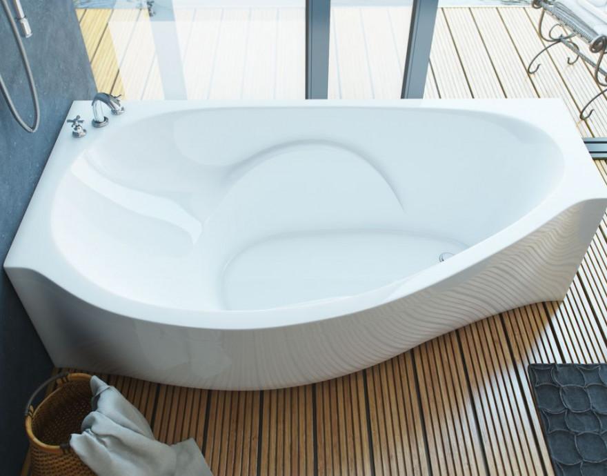 Ванна из литого мрамора 170х94 см L Эстет Грация FP00000629 ванна из литого мрамора эстет грация 170x94 см левая асимметричная на ножках фр 00000629