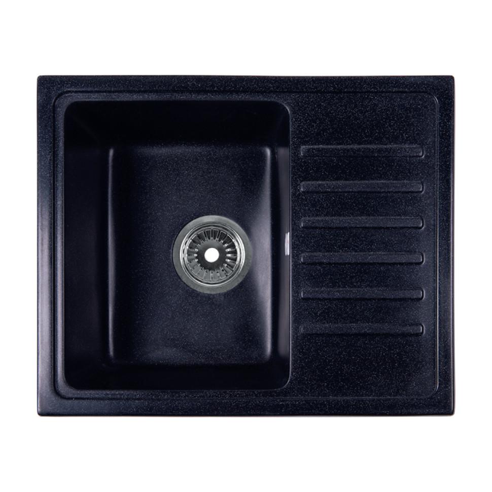 Кухонная мойка черный Rossinka RS56-46SW-Black кухонная мойка rossinka rs56 46sw черная