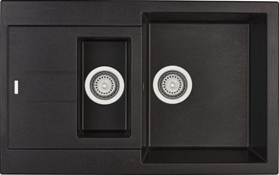 Кухонная мойка оникс Longran Amanda AMG780.500 15 - 10 мойка longran ultra uls615 500 15 10 оникс