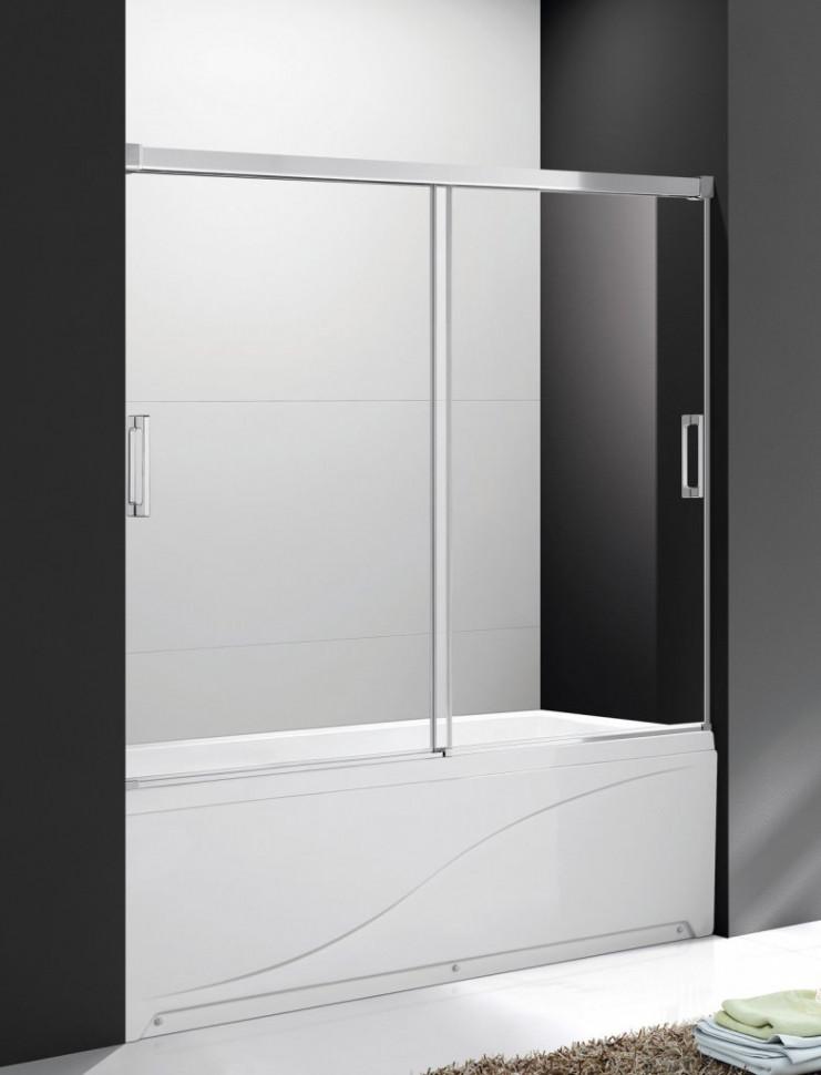 Шторка для ванны 170 см Cezares TANDEM-SOFT-VF-2-170/145-P-Cr текстурное стекло недорого