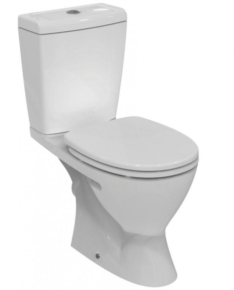 Унитаз-компакт с сиденьем микролифт Ideal Standard Eurovit V337101 унитаз с бачком ideal standard tesi aquablade пристенный с сиденьем микролифт