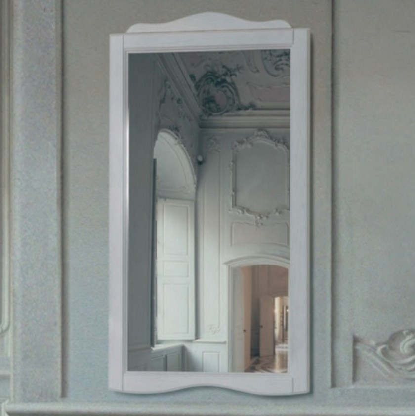 Фото - Зеркало 63х110 см белый Tiffany World Veronica Nuovo VER1163-B шкаф колонна напольная правая орех tiffany world veronica nuova ver3050d n