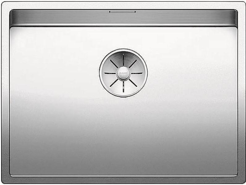 Кухонная мойка Blanco Claron 550-U InFino зеркальная полированная сталь 521579 кухонная мойка blanco ypsilon 550 u нерж сталь полированная левая