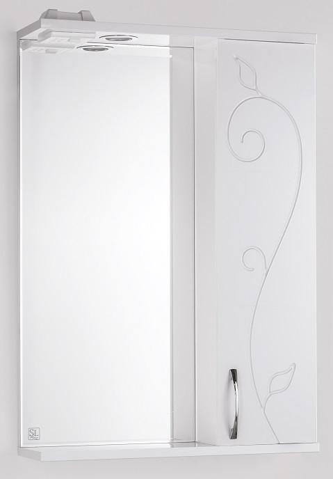 Фото - Зеркальный шкаф 55х83 см белый глянец Style Line Панда Фьюжн LC-00000077 зеркальный шкаф 50х83 см венге белый глянец style line панда стиль lc 00000086