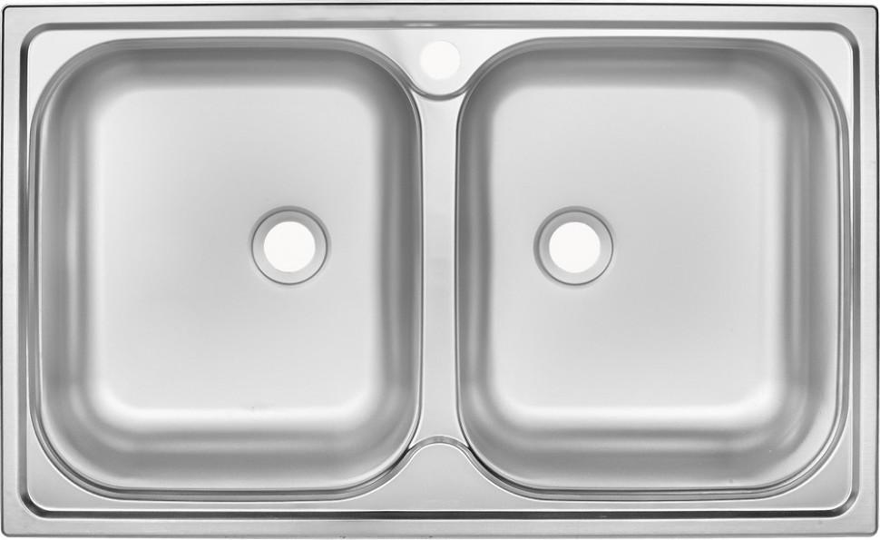 Кухонная мойка матовая сталь Ukinox Классика CLM780.480 20--6K 3C цены