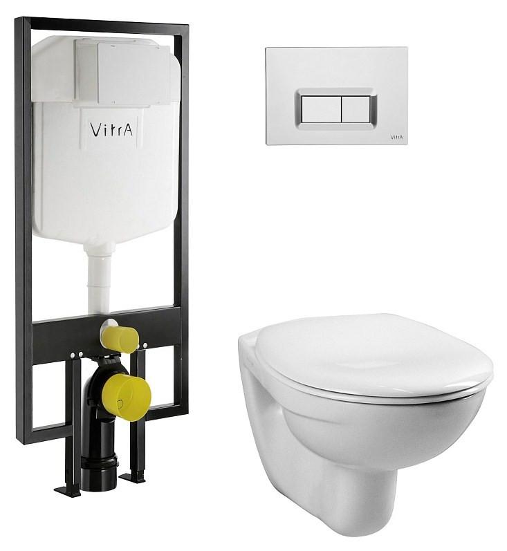 Комплект Vitra Normus 9773B003-7200 комплект vitra normus унитаз с сиденьем инсталляция кнопка белая 9773b003 7201