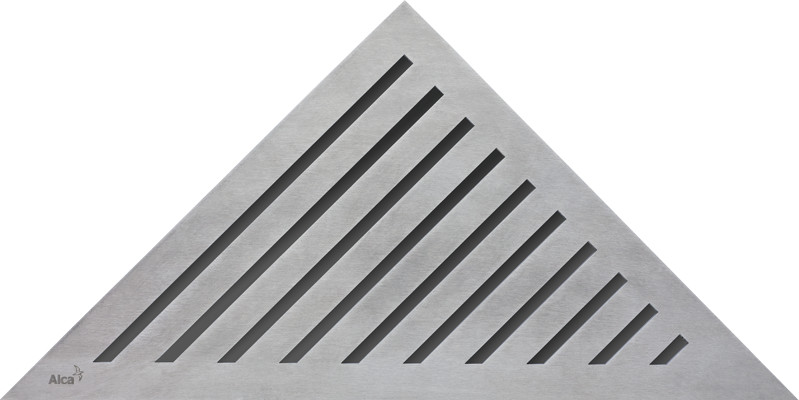 Декоративная решетка нержавеющая сталь AlcaPlast Grace фото