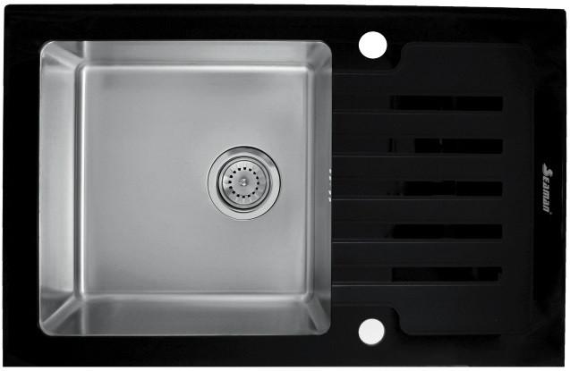 Кухонная мойка Seaman Eco Glass SMG-780B.B