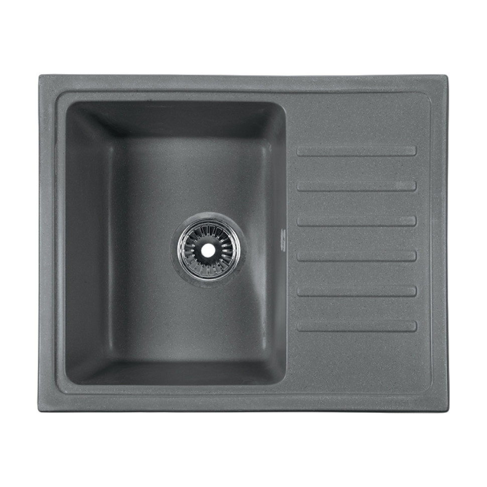 Кухонная мойка серый Rossinka RS56-46SW-Gray-Quartz кухонная мойка rossinka rs56 46sw черная