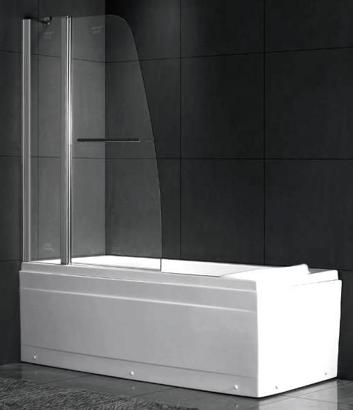 шторка для ванны 80 см gemy new rockcoco s03200 прозрачное Шторка для ванны 100 см Gemy New Rockcoco S03201 прозрачное