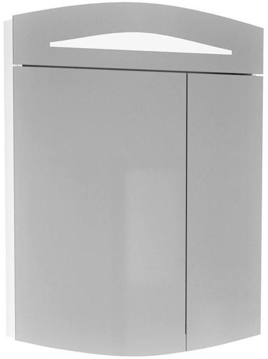 Зеркальный шкаф 60х80 см с подсветкой белый Alvaro Banos Alma 8405.1000 зеркальный шкаф bellezza лагуна 105 с подсветкой бежевый белый