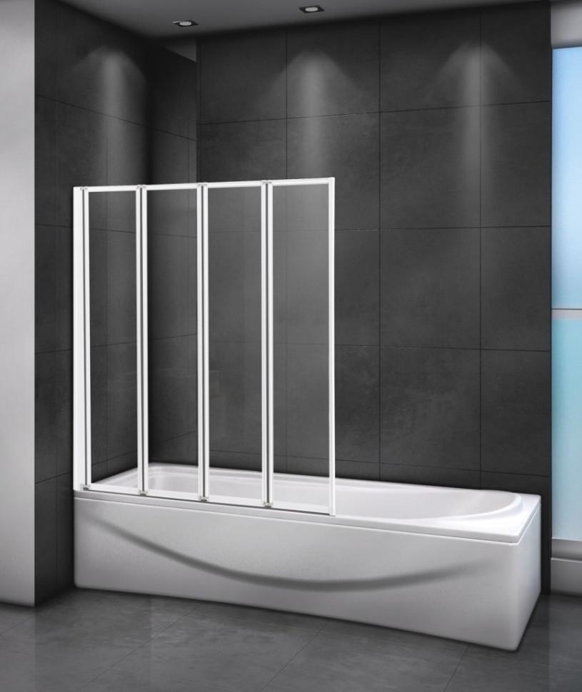 Шторка для ванны 90 см Cezares RELAX-V-4-90/140-C-Bi прозрачное