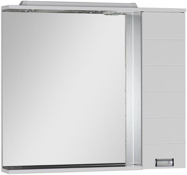 Зеркальный шкаф 98,6х87 см с подсветкой белый/венге Aquanet Сити 00170567 зеркальный шкаф 90х87 см с подсветкой венге aquanet донна 00169179