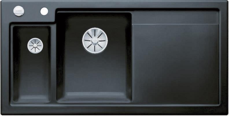 Кухонная мойка Blanco Axon II 6S InFino черный 524150 кухонная мойка blanco axon ii 6s infino матовый белый 524142