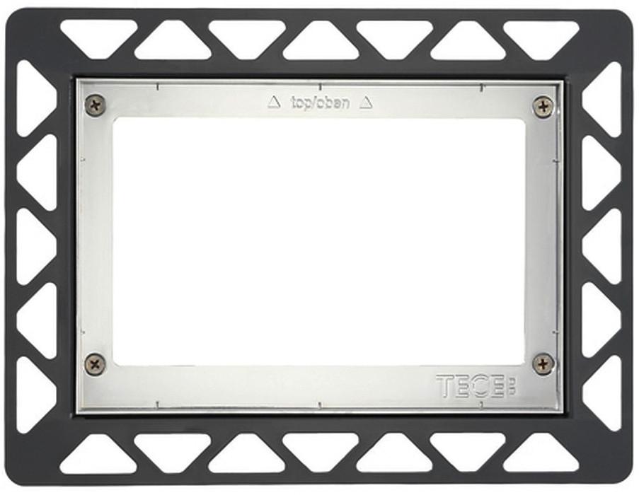 Монтажная рамка глянцевый хром Tece 9240649 монтажная рамка tece square 9240648