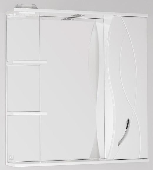 Фото - Зеркальный шкаф 75х83 см белый глянец Style Line Амелия LC-00000014 зеркальный шкаф 60х83 см белый глянец style line жасмин lc 00000040