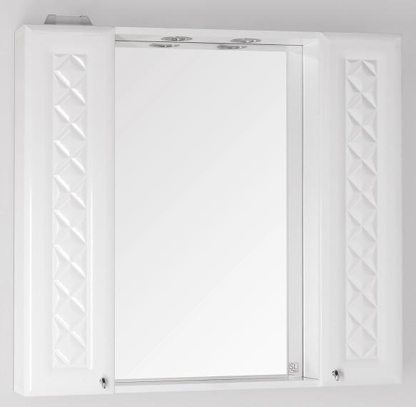Зеркальный шкаф 90х86 см белый глянец Style Line Канна LC-00000167