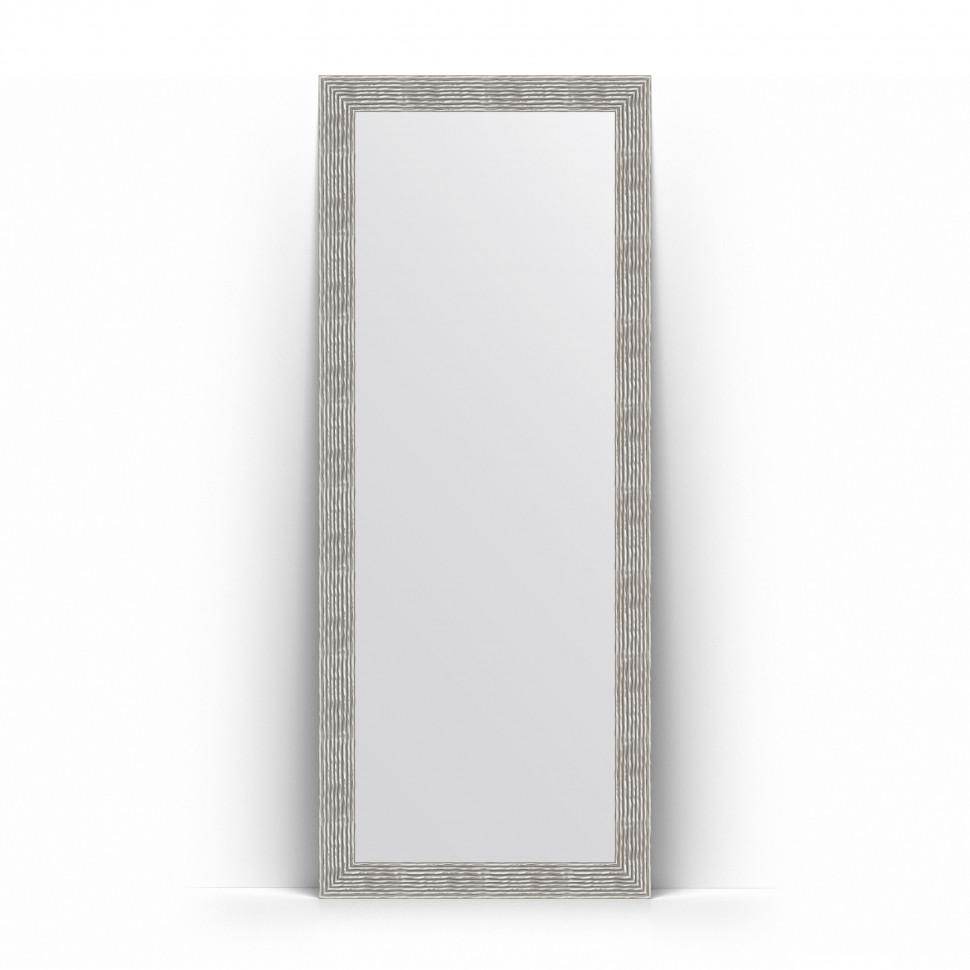 Фото - Зеркало напольное 81х201 см волна хром Evoform Definite Floor BY 6011 зеркало напольное 81х201 см чеканка золотая evoform definite floor by 6008