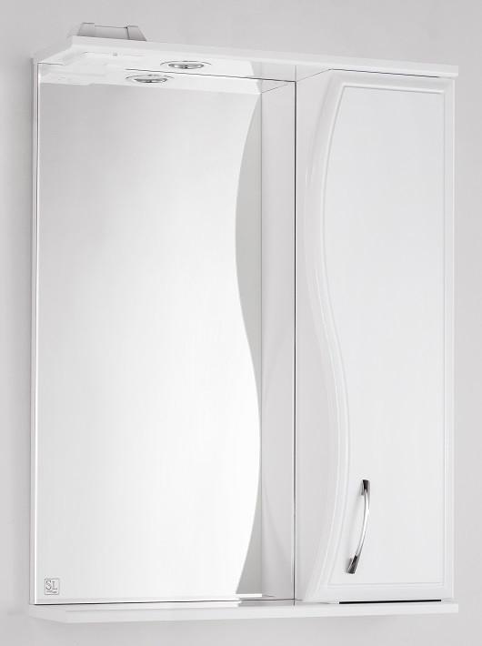 Фото - Зеркальный шкаф 60х83 см белый глянец Style Line Панда Волна LC-00000173 зеркальный шкаф 50х83 см венге белый глянец style line панда стиль lc 00000086