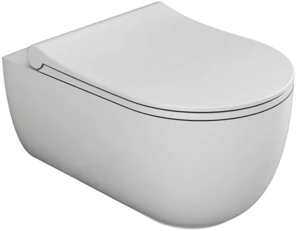 Подвесной безободковый унитаз с функцией биде с сиденьем микролифт Bien Vokha MDKA052N1VP1W3000 раковина 55х42 см bien vokha mdls05501fd1w3000