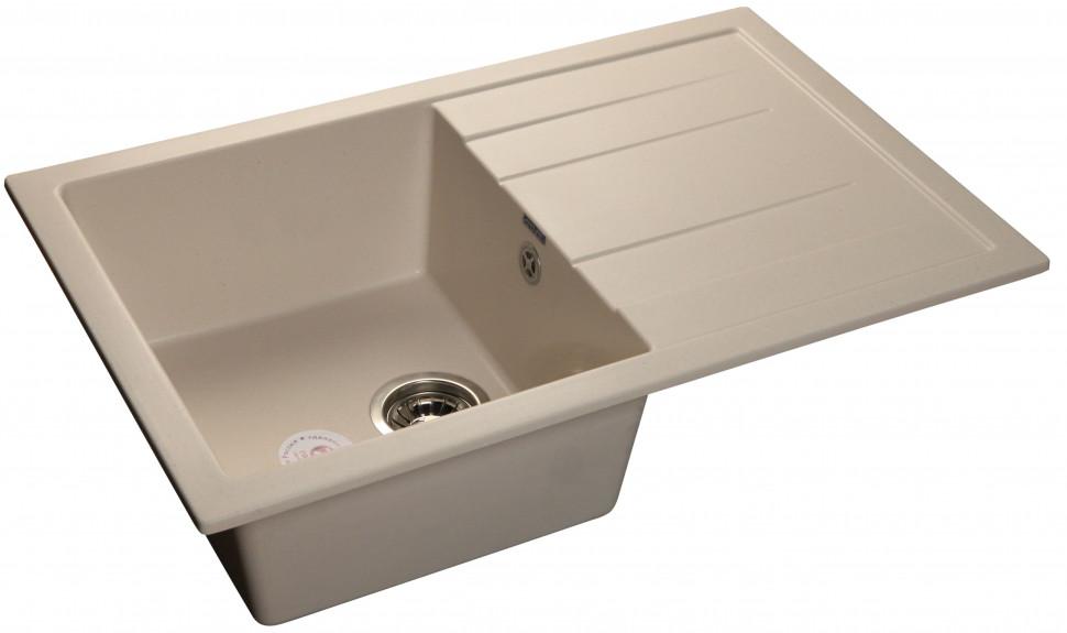 Кухонная мойка белый GranFest Quadro GF-Q780L кухонная мойка песочный granfest quadro gf q650l