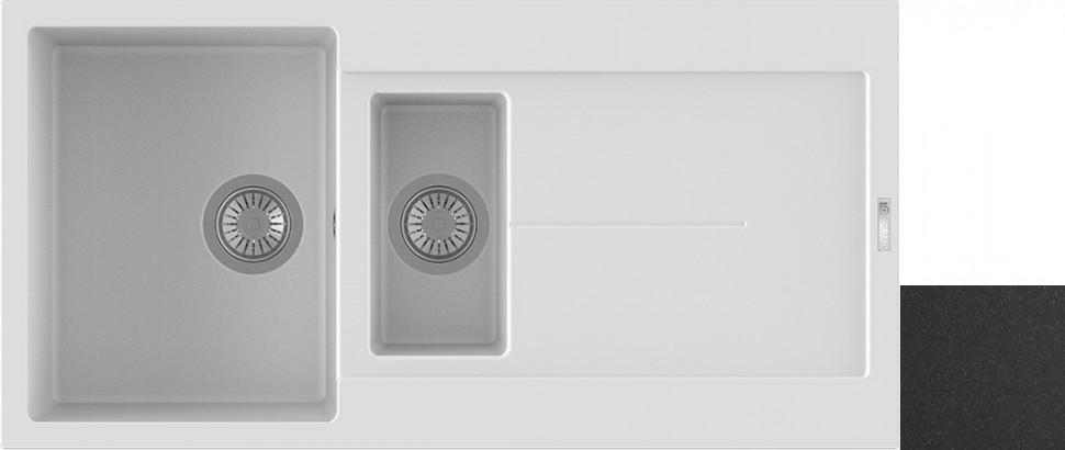 Кухонная мойка оникс Longran Enigma ENG1000.500 15 - 10 мойка longran ultra uls615 500 15 10 оникс