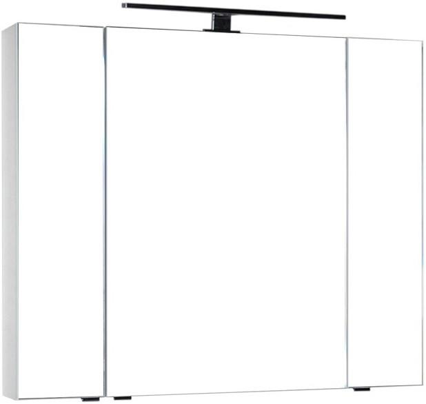 Зеркальный шкаф 100х85 см белый Aquanet Эвора 00185194