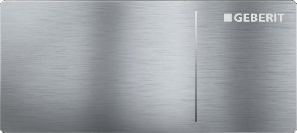 Дистанционная клавиша смыва Geberit Sigma 70 нержавеющая сталь потертая, для бачков Sigma 8 см 115.635.FW.1 цена