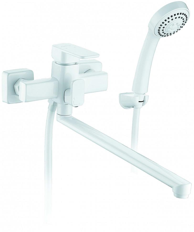 Смеситель для ванны Elghansa Mondschein White 5302235-White смеситель для раковины elghansa mondschein white 1620235 white