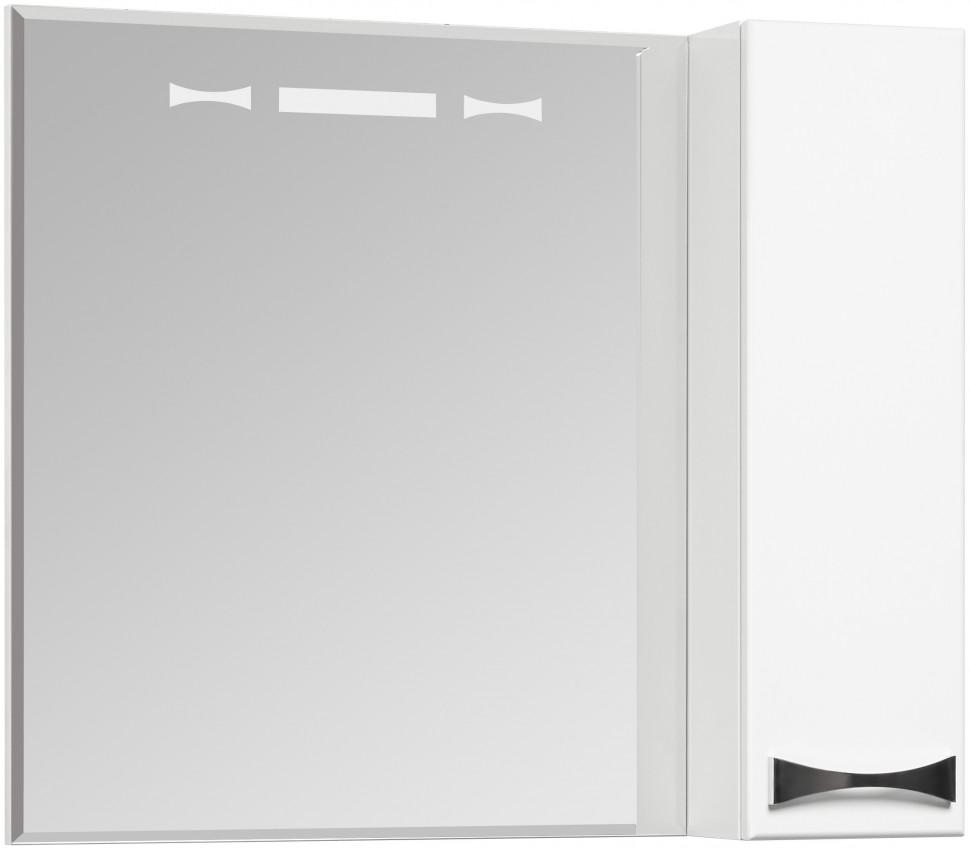 Зеркальный шкаф 80х86,8 см белый глянец R Акватон Диор 1A168002DR01R зеркальный шкаф 65х85 см белый глянец r акватон домус 1a166202ll01r