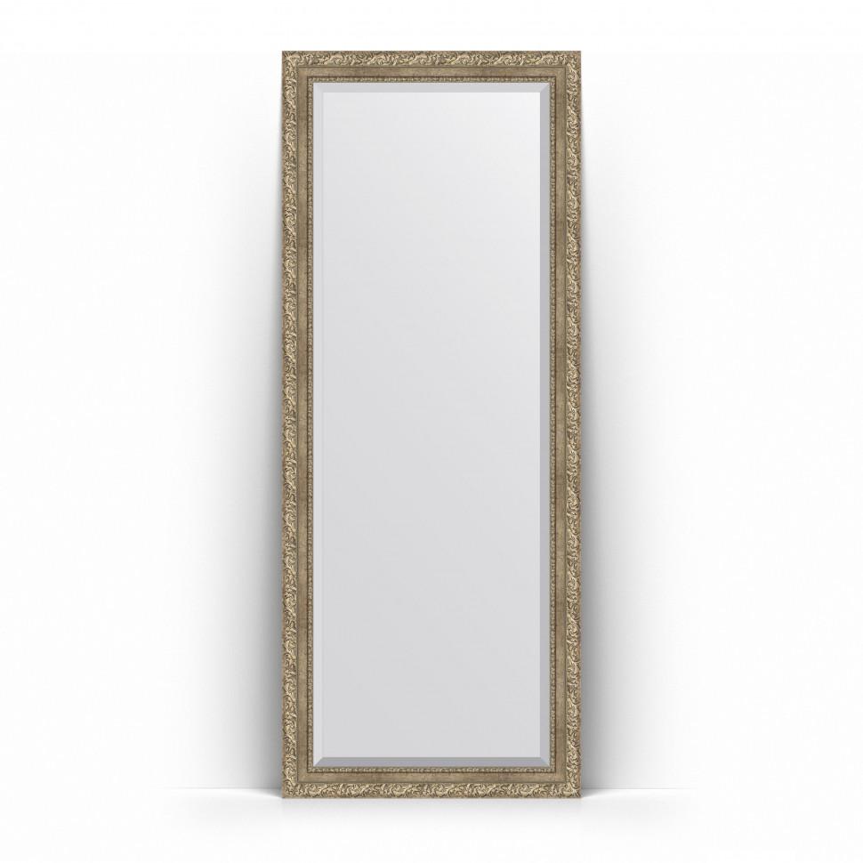 Фото - Зеркало напольное 80х200 см виньетка античное серебро Evoform Exclusive Floor BY 6113 зеркало напольное с фацетом evoform exclusive floor 115x205 см в багетной раме виньетка серебро 109 мм by 6176