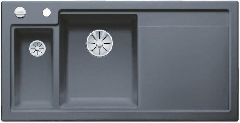 Кухонная мойка Blanco Axon II 6S InFino базальт 524148 кухонная мойка blanco axon ii 6s infino матовый белый 524142