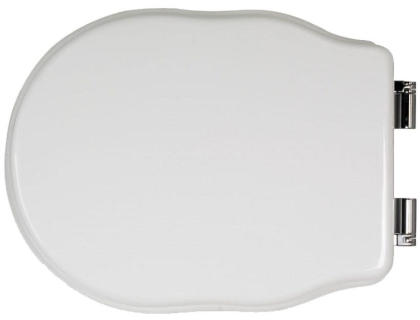 Сиденье для напольного унитаза с микролифтом белый/хром Tiffany World Bristol TWBR71bi/cr цена в Москве и Питере