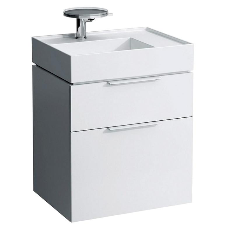 Тумба белый глянец 59,5 см 2 ящика Laufen Kartel by Laufen 4075520336311